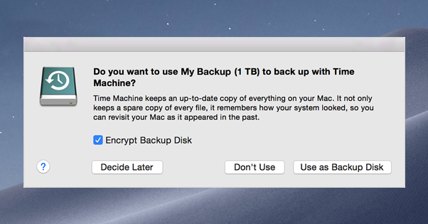 Back Up Time Machine