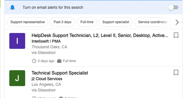 Email Support Job Listings