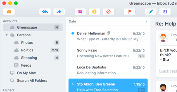 Multiple Emails in Postbox