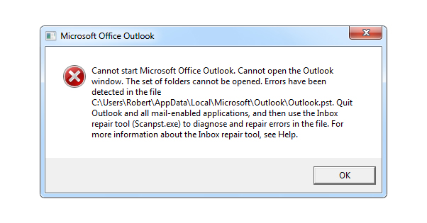 Outlook PST File Corrupted