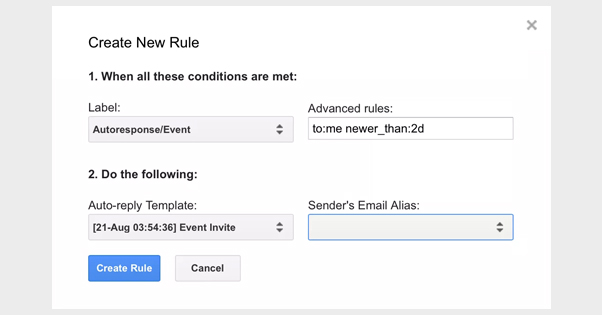 Autoresponding in Gmail