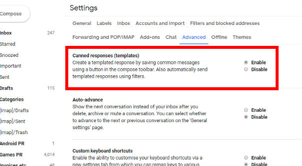 Gmail Automatic Canned Response