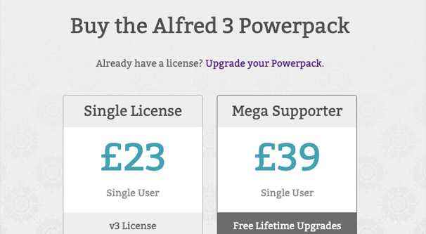 Alfred Pricing