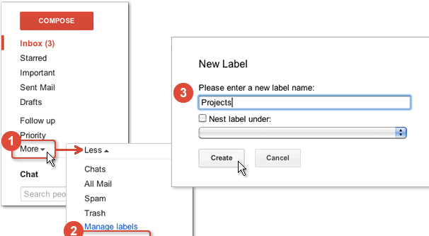 Creating a Label on Gmail