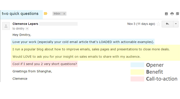 Short Cold Email