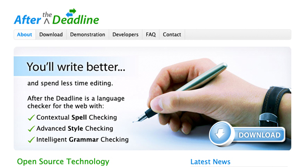 After The Deadline Homepage