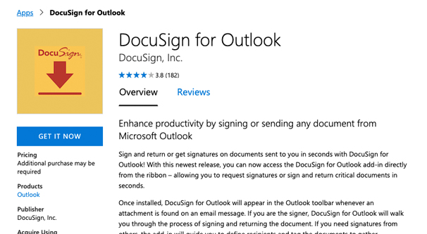 DocuSign for Outlook