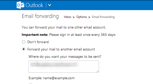 Outlook Email Forwarding