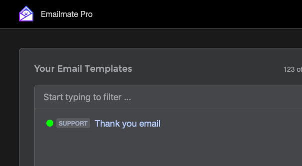 Thank You Email Template